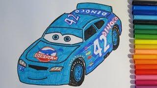 How to draw CAL WEATHERS Dinoco Disney Pixar CARS 3 2017