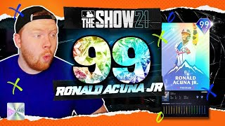 *99* Ronald Acuna Jr. has an ABSOLUTE hose In MLB The Show 21!!