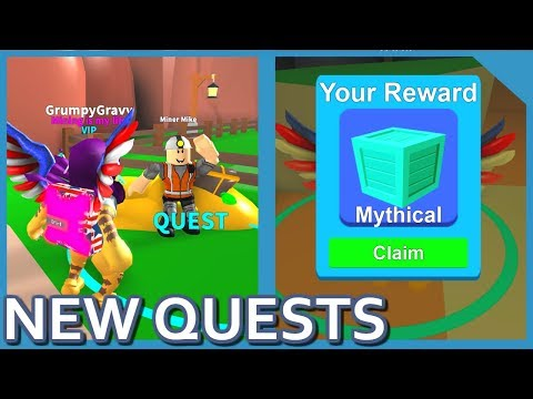 HUGE UPDATE!! NEW QUESTS + ENCHANTMENTS IN ROBLOX MINING SIMULATOR