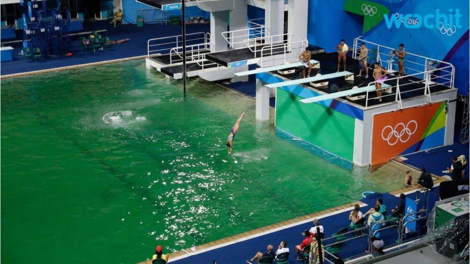 2016 olympics rio diving pool turns green youtube. Black Bedroom Furniture Sets. Home Design Ideas