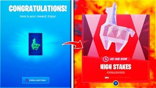 "How To COMPLETE! ""THE FORTNITE HIGH STAKES CHALLENGES"" Fast! FREE REWARDS!"