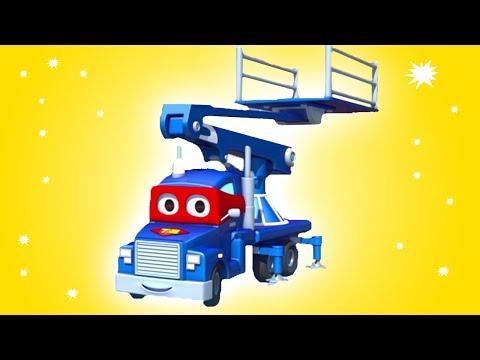 Carl si Truk Super dan Bola Sepak Bola di Kota Mobil   Kartun Mobil & Truk Kontruksi untuk anak-anak