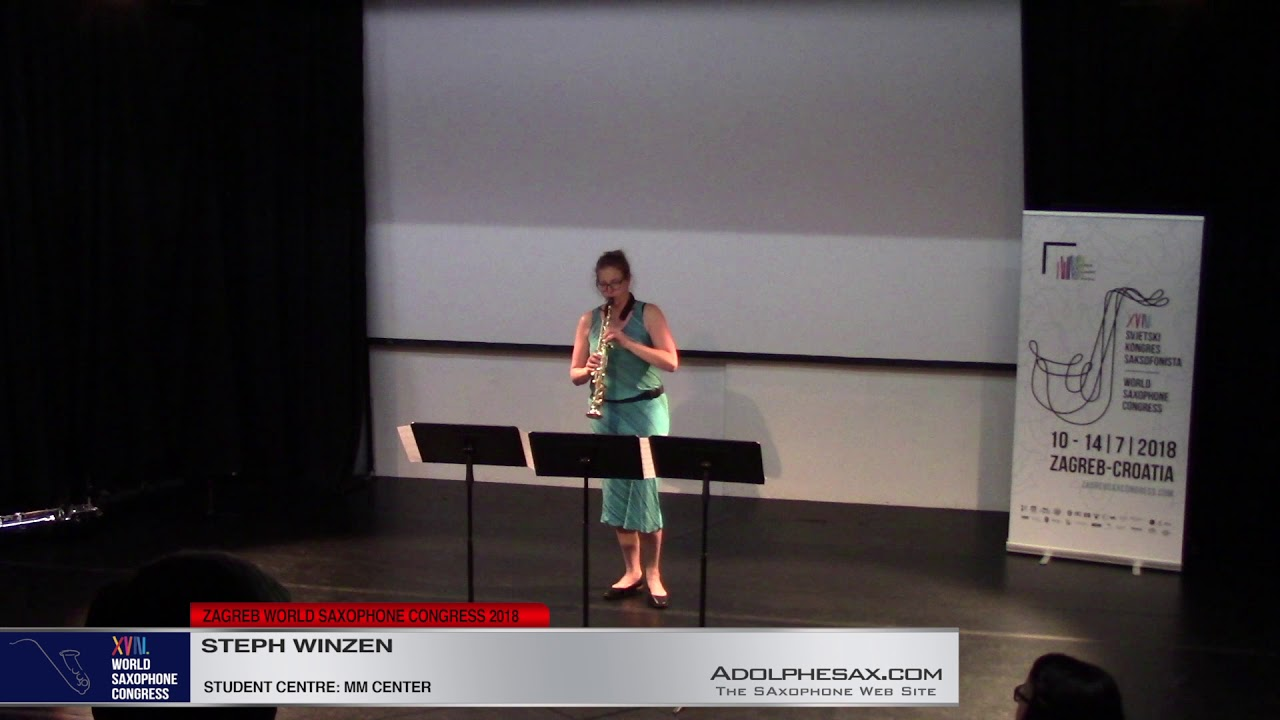 Piece 1    Steph Winzen   XVIII World Sax Congress 2018 #adolphesax