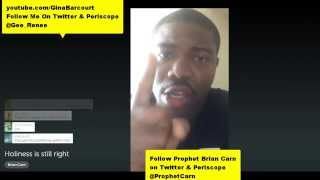 Brian Carn @prophetcarn HOLINESS IS STILL RIGHT Open Rebuke 2 Leaders Judgment Coming Music Industry