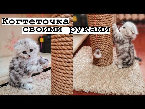 Чесалка для кошек своими руками