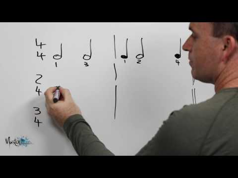 051 Counting Minims (half notes) within a bar
