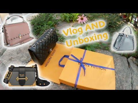 Luxury Shopping Vlog Fendi, LV, Prada, & LOUIS VUITTON UNBOXING Monogram Eclipse!