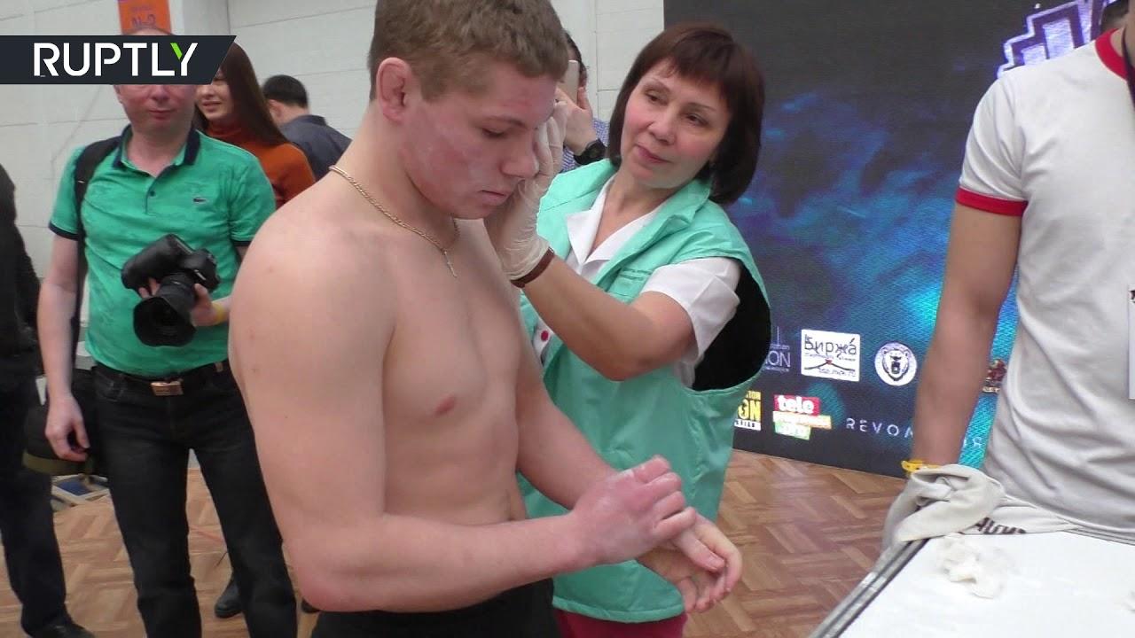 Деградация: в Красноярске прошёл чемпионат по пощёчинам