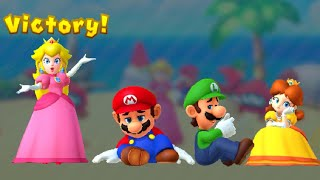 Mario Party 10 Minigames - Peach vs Daisy vs Mario vs Luigi (Master CPU)