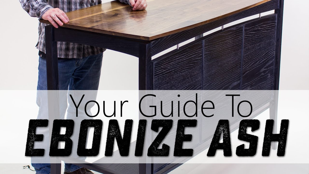 a great way to ebonize ash for woodworking projects youtube