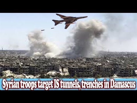 Syrian troops target IS tunnels, trenches in Damascus || World News Radio
