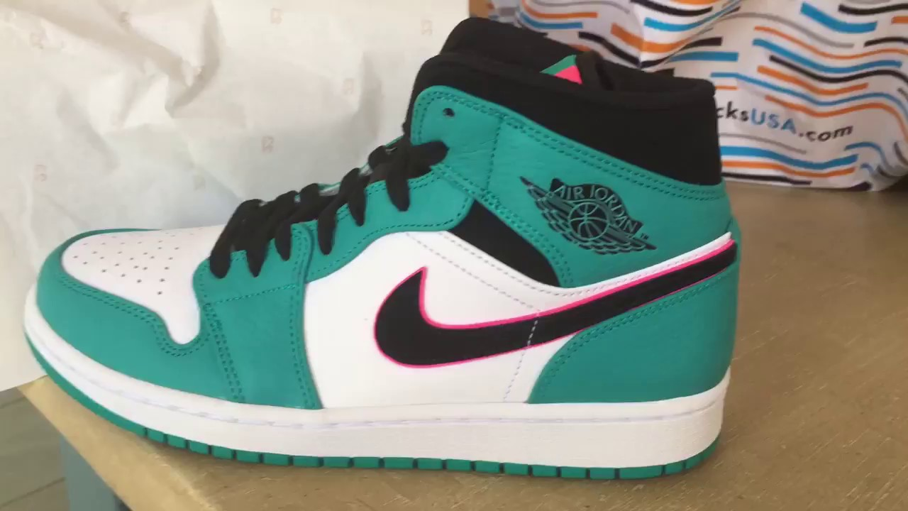b57eb619233 Quick Look At The Air Jordan 1 Mid South Beach SE BUY IT NOW - YouTube
