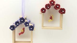 Paper Rose#2 -wood stick bird