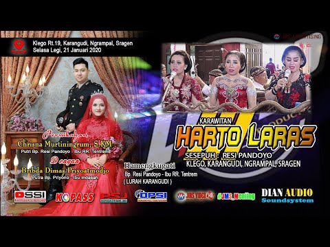 LIVE Part 2 KARAWITAN HARTO LARAS    DIAN PRO Audio    JMS VISION HD     Klego, 21-01-2020