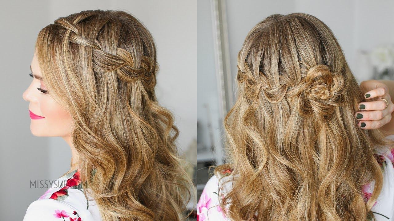 waterfall braid wrapped flower | missy sue