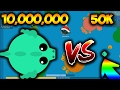 MOPE.IO MASSIVE 10000K SCORE DRAGON VS THE SMALLEST DRAGON! MOPE.IO FUNNY MOMENTS (Mope.io Gameplay)