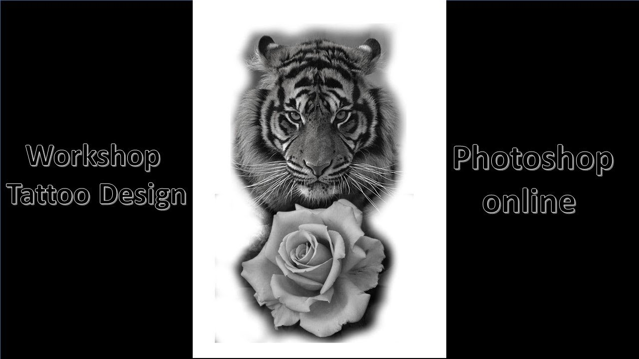 workshop design tattoo tiger photoshop online youtube. Black Bedroom Furniture Sets. Home Design Ideas
