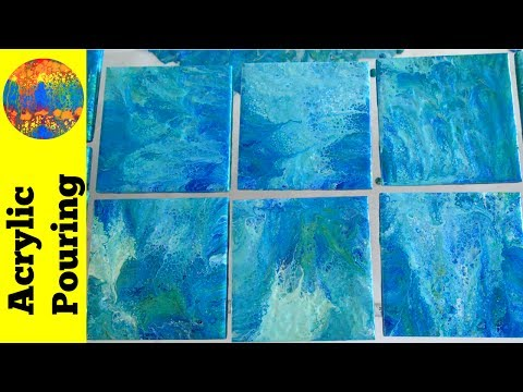 Epic Tiles Dipping Session with Spilled Paint