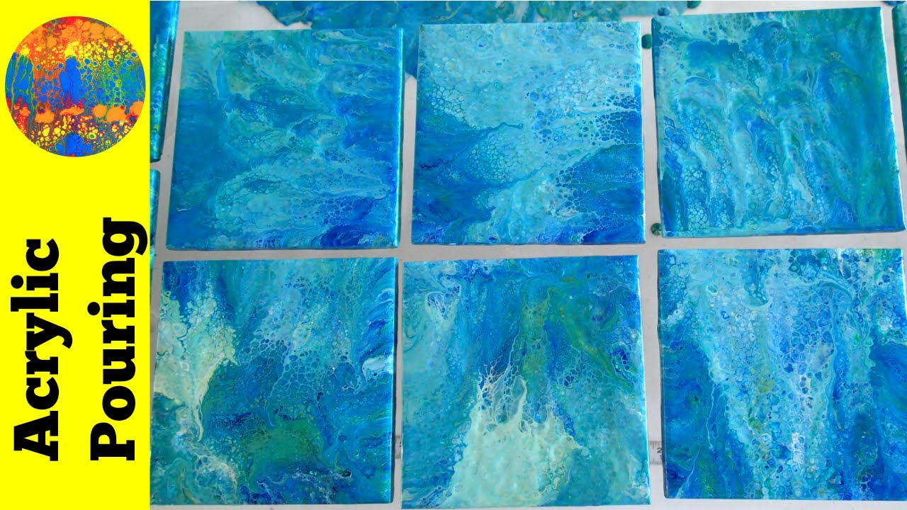 Epic Tile Dipping Technique Tutorial Acrylic Pouring On
