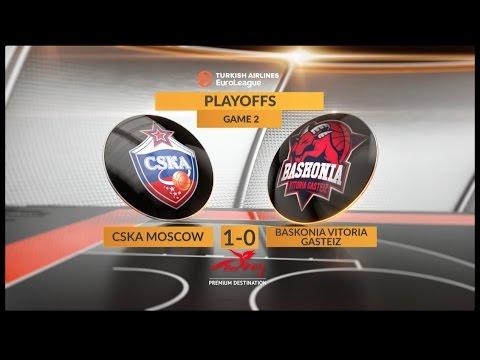 Highlights: CSKA Moscow-Baskonia Vitoria Gasteiz, Game 2