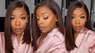 Simple Summer Light Ombre Brown 360 Lace Front Wig, Easy Install Everyday Slay! Divaswigs
