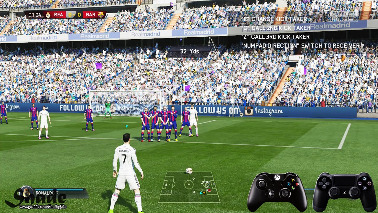 Fifa 15 free kick tutorial xbox playstation hd 1080p youtube voltagebd Image collections