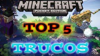 TOP 5 TRUCOS PARA MINECRAFT PE 0.14.2 - 0.15.0