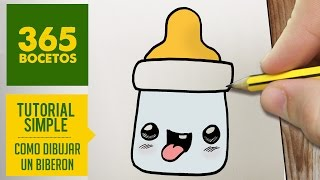 COMO DIBUJAR UN BIBERON KAWAII PASO A PASO - Dibujos kawaii faciles - How to draw a bottle