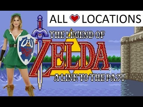 Zelda: A Link To The Past: All Hearts Location
