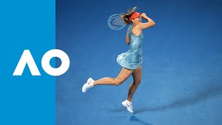 Maria Sharapova v Caroline Wozniacki match highlights (3R) | Australian Open 2019