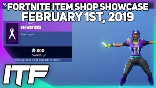 Fortnite Item Shop *NEW* GLOWSTICKS EMOTE AND FOOTBALL (NFL) SKINS ARE BACK! [February 1st, 2019]