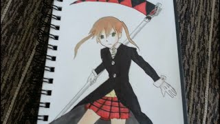 Drawing Maka Albarn - Soul Eater マカ=アルバーン copic