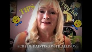 Saturdays Tips on what Mediums and Supplies to buy for Acrylic Painting, beginners should watch!