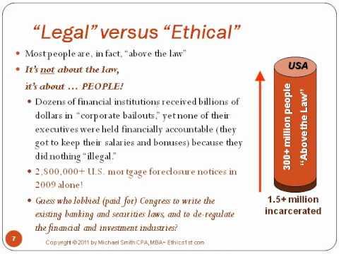 Legal vs Ethical