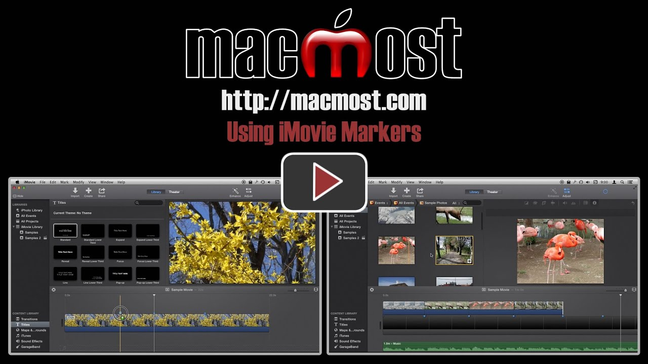 Using iMovie Markers