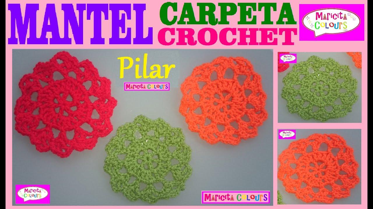 Tapete Centro Mantelito Tutorial A Crochet Pilar Parte 2 Por Maricita Colours You