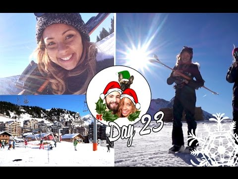 Skiing on the French Alps! ❄ Vlogmas 23