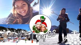 Skiing on the French Alps! ❄ Vlogmas 23 Thumbnail