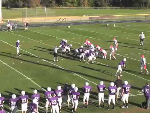 Ticonderoga - Saranac Lake JV Football  9-26-14