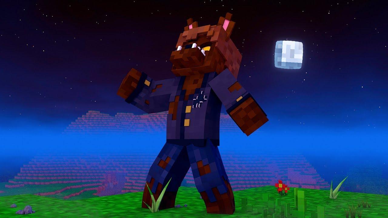Minecraft: ME TRANSFORMEI EM LOBISOMEN ! - HOWLING MOON ...