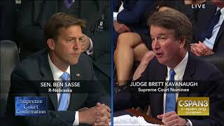 Ben Sasse: Round 1 Questions in Kavanaugh Hearings