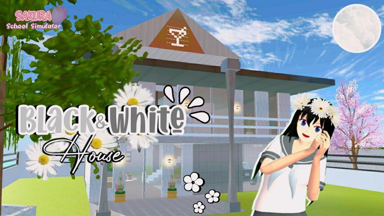 Black White House Sakura School Simulator Youtube