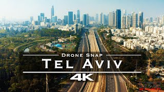 Tel Aviv, Israel 🇮🇱 - by drone [4K]