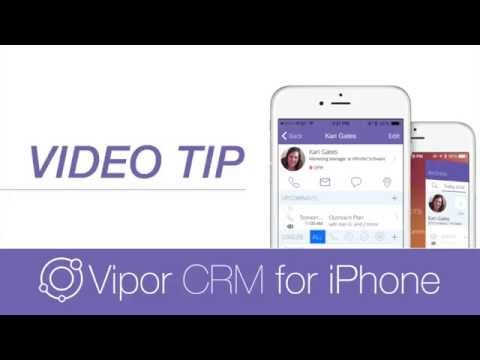 Vipor CRM iPhone Tip - Write to Apple Contacts