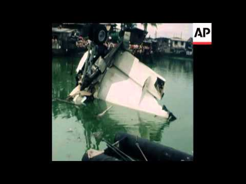 SYND 16 9 78 CRASHED PRESIDENTIAL PLANE NEAR MANILA AIRPORT