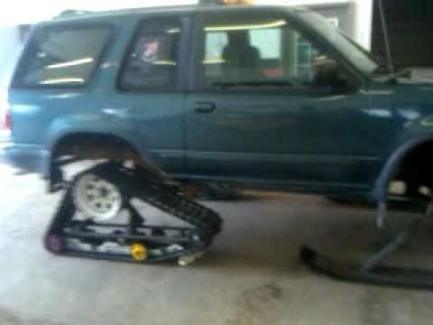 Ford explorer Snow truck Half Track pt 1 YouTube