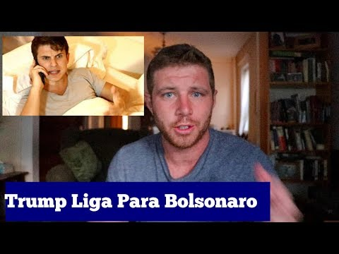 DONALD TRUMP liga para JAIR BOLSONARO Gringo React  Tim Explica