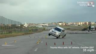 Veículos reprovados pela polícia em teste de alce