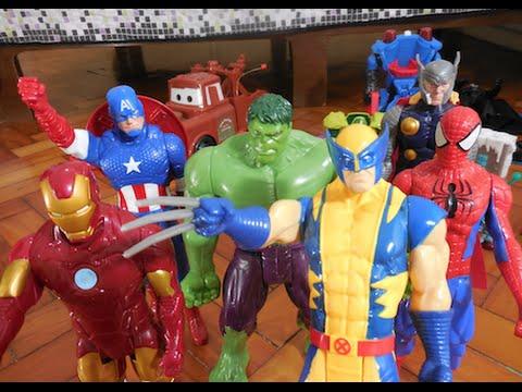 9a6e4ef75949d Wolverine boneco Homem Aranha Hulk Capitão América Duende Verde Venom  Coringa Marvel Avengers - YouTube