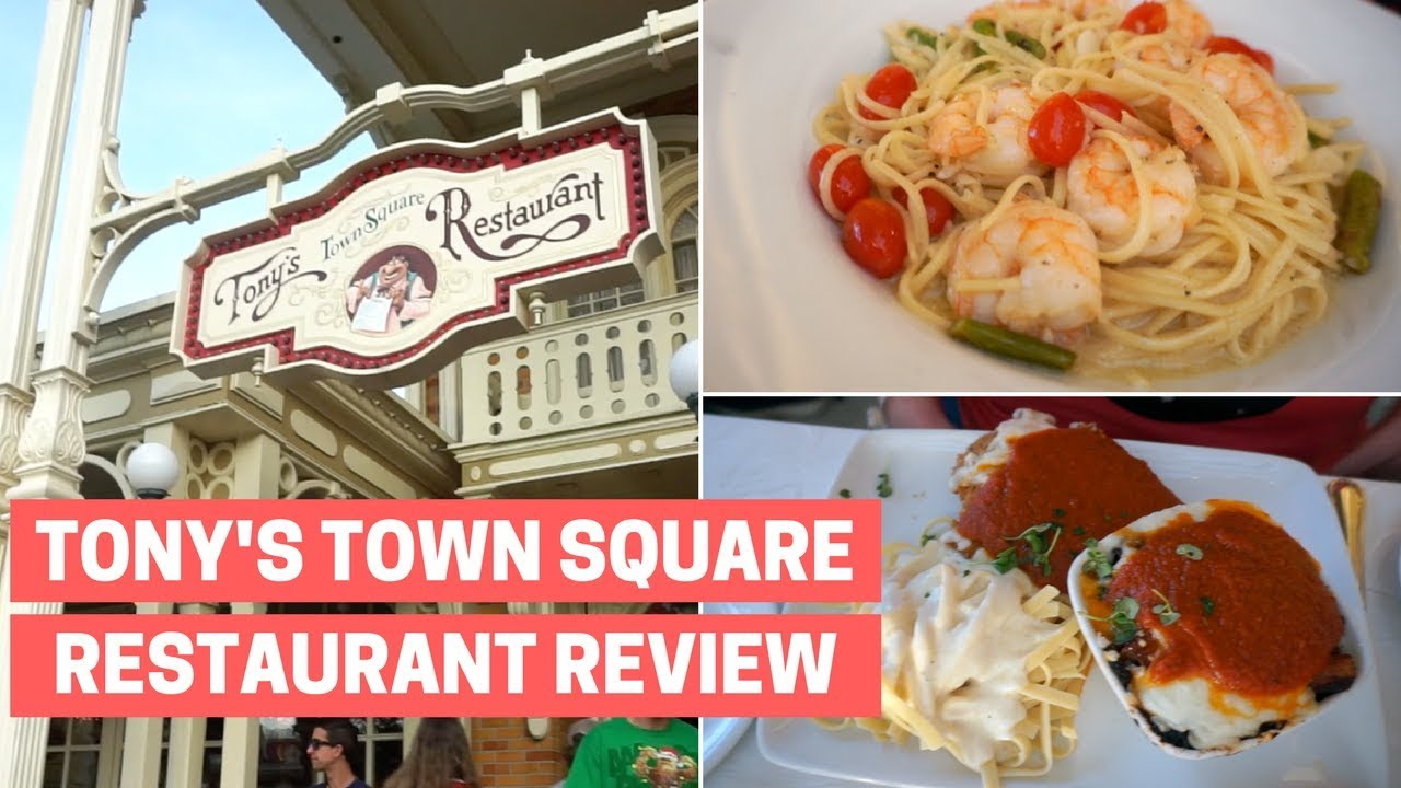 Tony S Town Square Dinner Disney World Restaurant Review Youtube